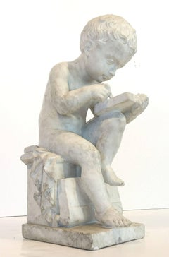 Italian Marble Sculpture of a Child