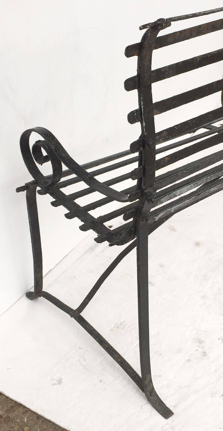 American Garden Seating Bench of Painted Iron 8