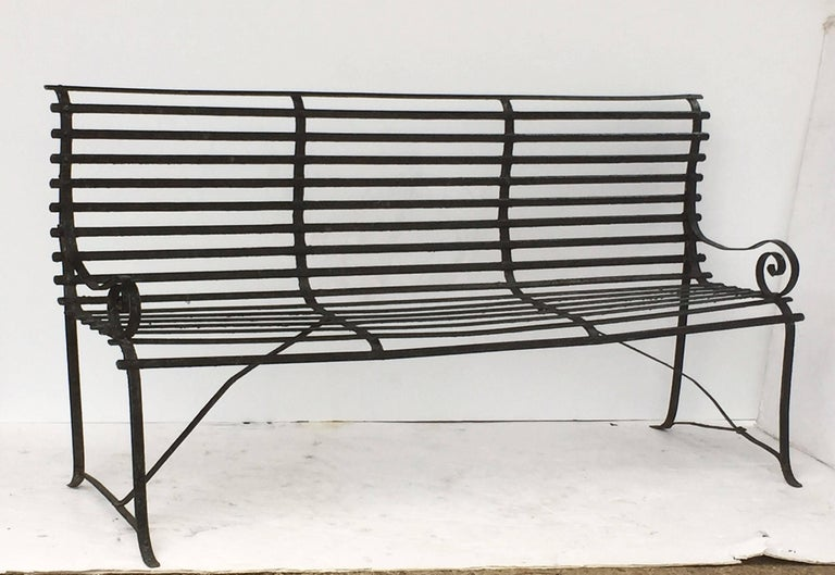American Garden Seating Bench of Painted Iron 4