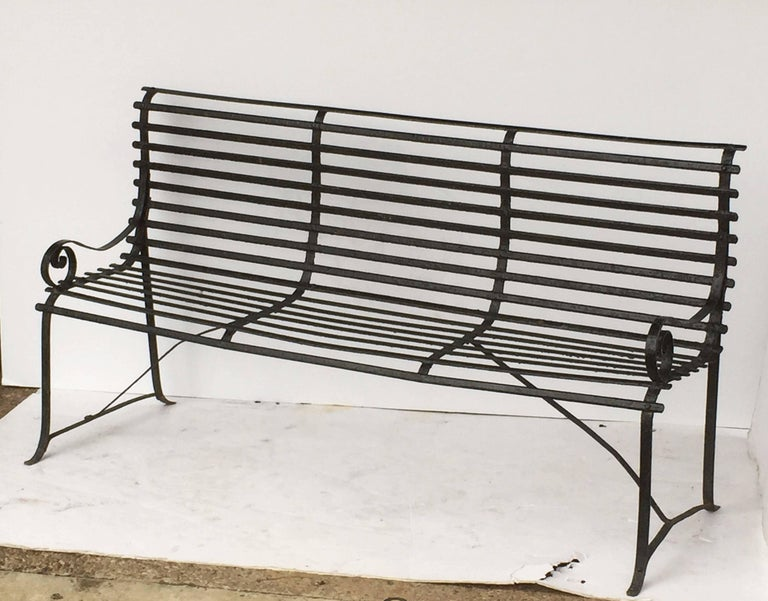 American Garden Seating Bench of Painted Iron 3
