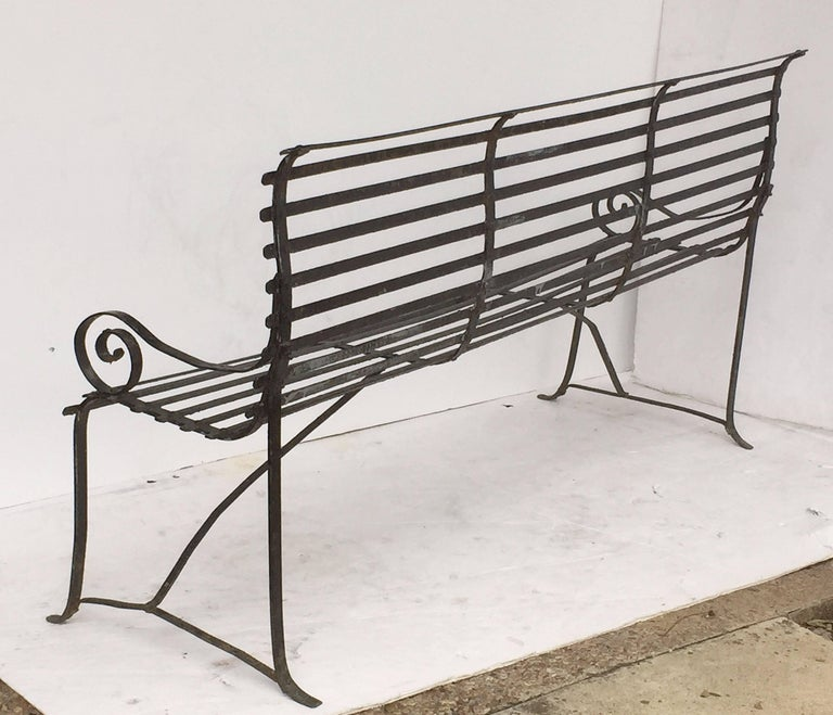 American Garden Seating Bench of Painted Iron 7