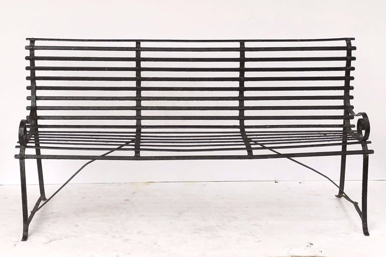 American Garden Seating Bench of Painted Iron 2
