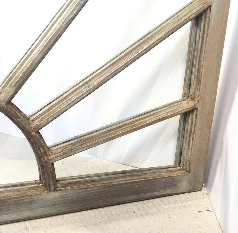 Glass English Rectangular Grey Frame Mirrors (H 48 3/4 x W 35 3/4) For Sale