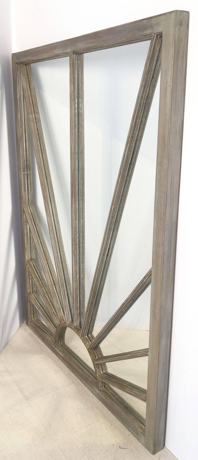 English Rectangular Grey Frame Mirrors (H 48 3/4 x W 35 3/4) For Sale 5