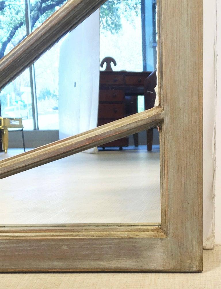 20th Century English Rectangular Grey Frame Mirrors (H 48 3/4 x W 35 3/4) For Sale