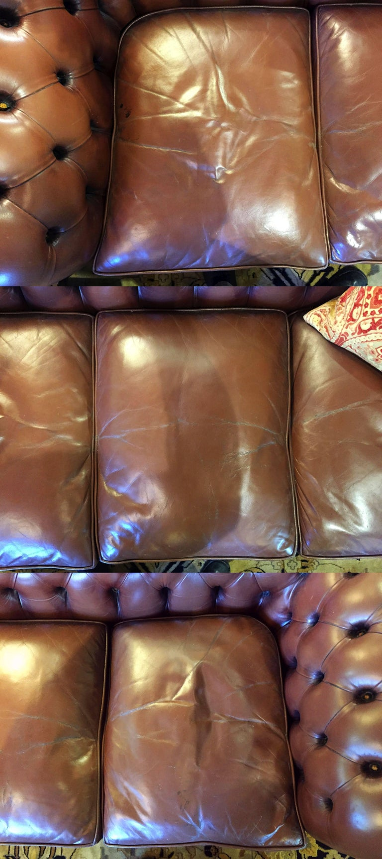 English Chesterfield Sofa of Tufted Leather For Sale 3