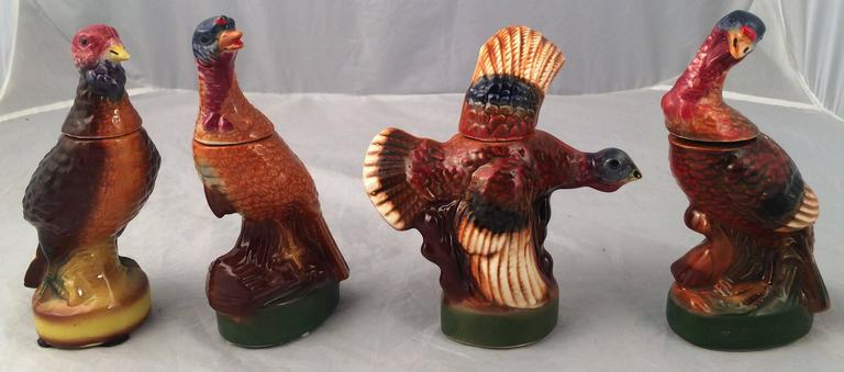 Set Of Eight Mini Wild Turkey Decanters For Sale At 1stdibs