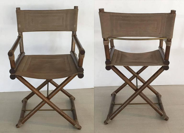 Brass Italian Director's Chairs 'Individually Priced' For Sale