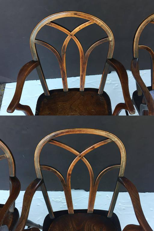 Pair of English Ash Lowback Windsor Chairs For Sale 1