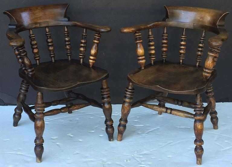 Set of Eight English Bow Arm Chairs 2