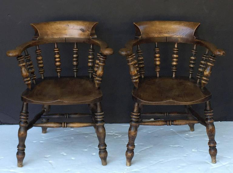 Set of Eight English Bow Arm Chairs 3