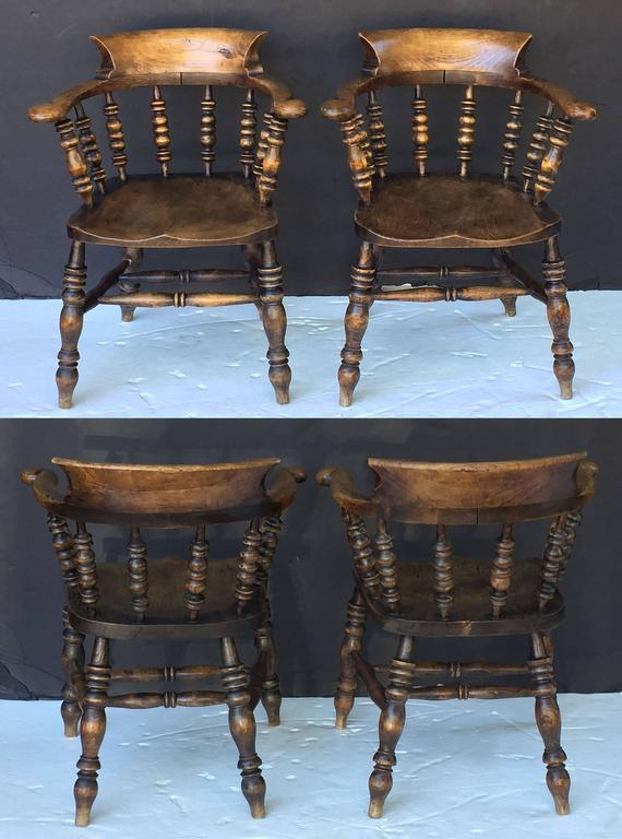 Set of Eight English Bow Arm Chairs 5