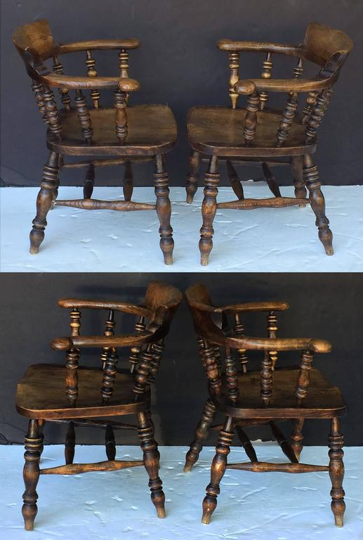 Set of Eight English Bow Arm Chairs 6