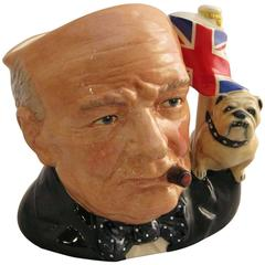 Winston Churchill Character Jug by Royal Doulton