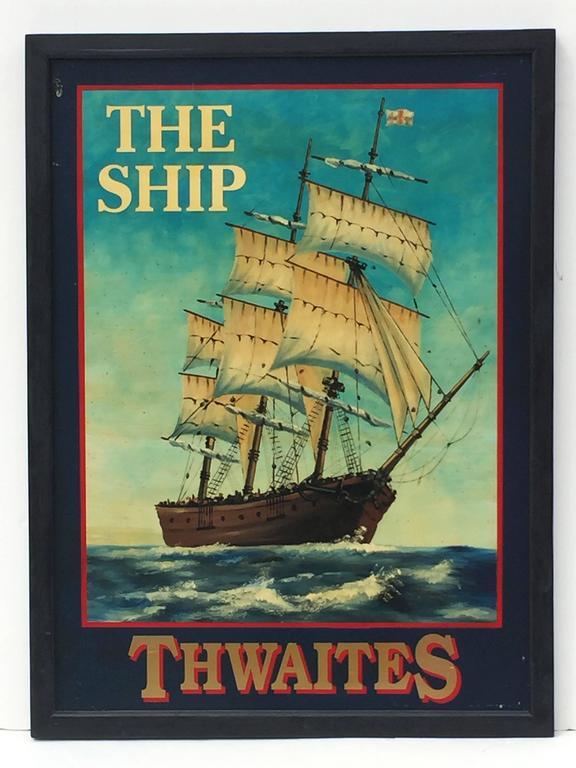 English Pub Sign The Ship Thwaites At 1stdibs