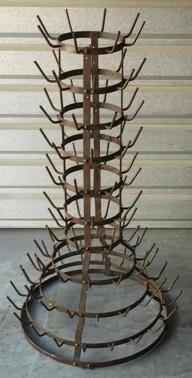 French Bottle Tree Or Wine Bottle Drying Rack At 1stdibs