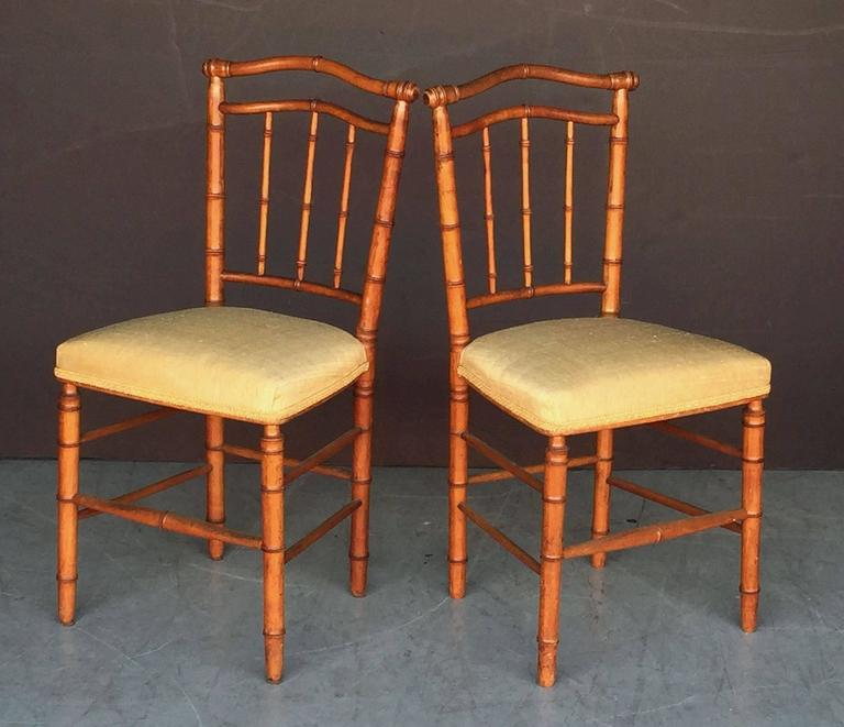 Pair of Faux Bamboo Chairs 3
