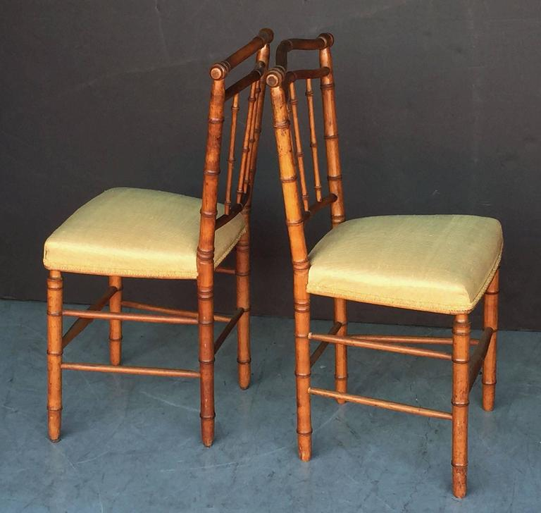 Pair of Faux Bamboo Chairs 5
