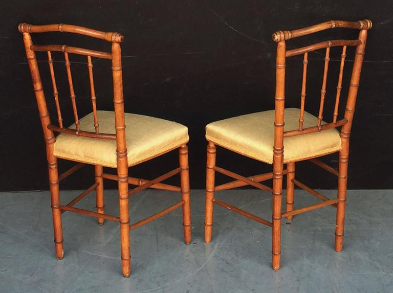 Pair of Faux Bamboo Chairs 4