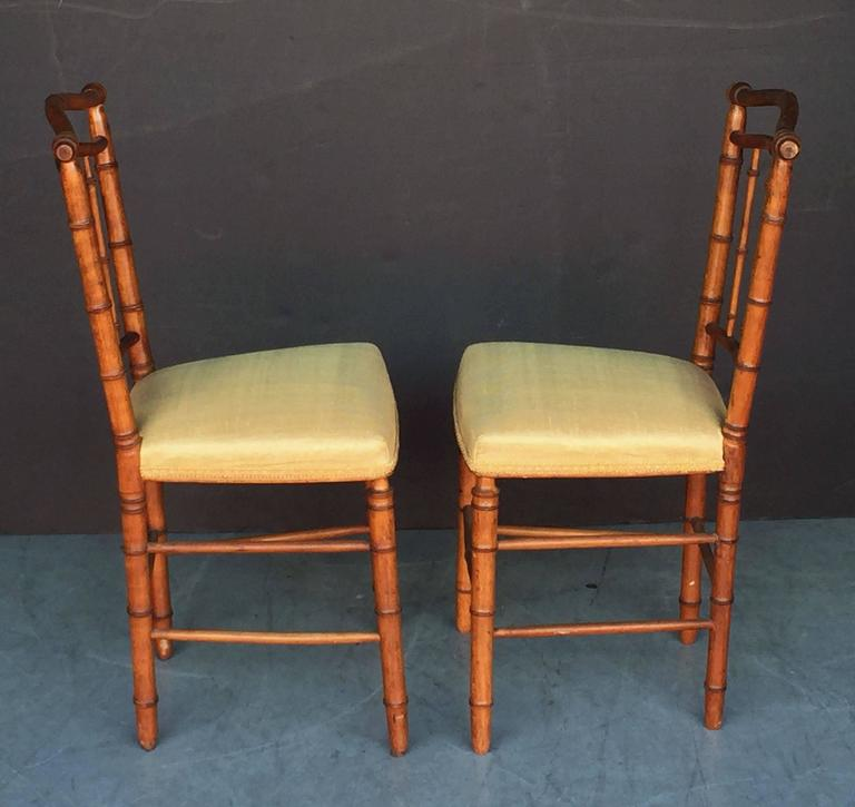 Pair of Faux Bamboo Chairs 6