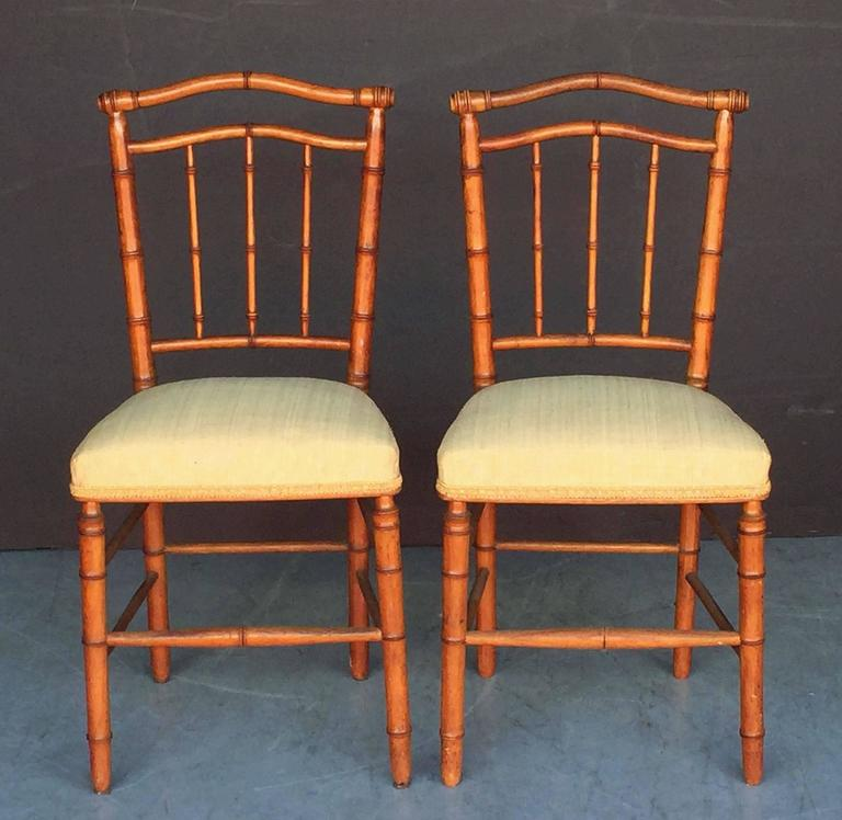 Pair of Faux Bamboo Chairs 2