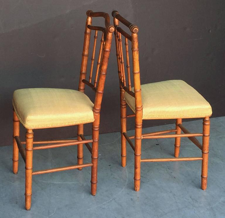 Pair of Faux Bamboo Chairs 7