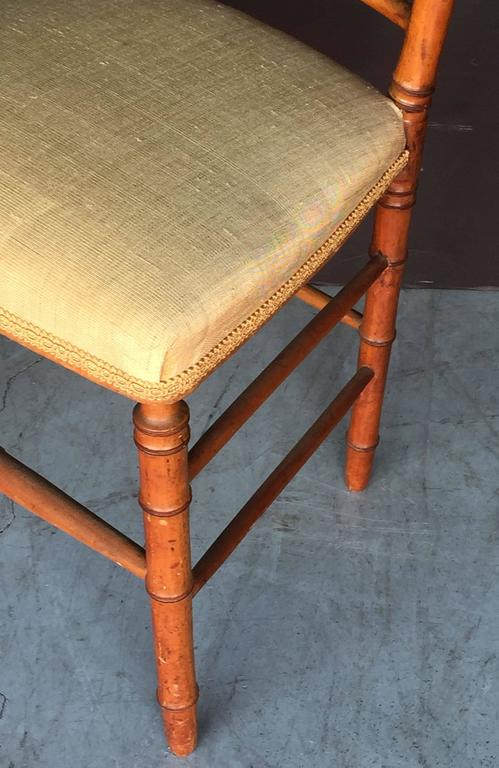 Pair of Faux Bamboo Chairs 10