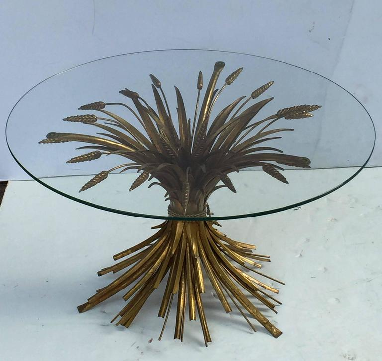 Italian Wheat Sheaf Low Table of Gilt Metal 4