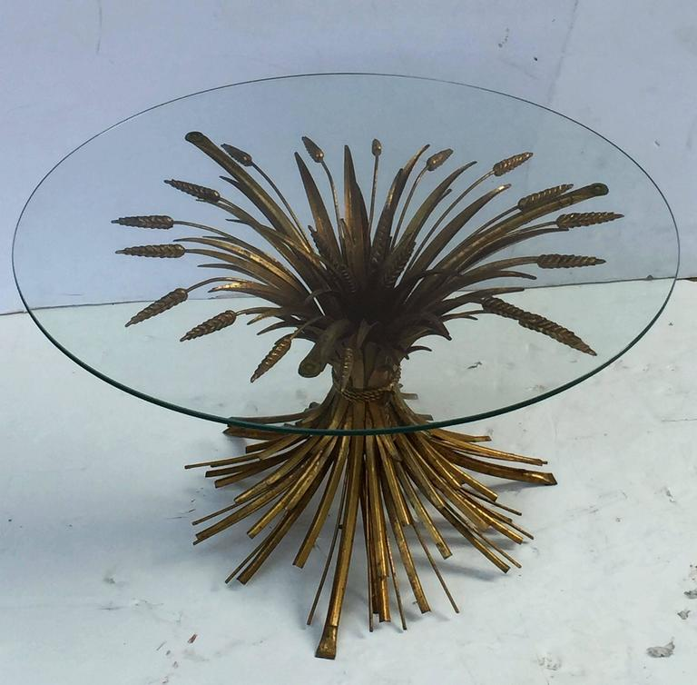 Italian Wheat Sheaf Low Table of Gilt Metal 2