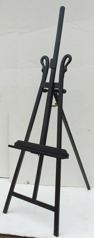 large french black swan display easel at 1stdibs