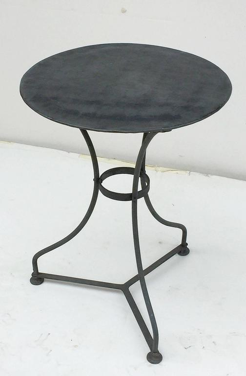 ... White · French Zinc Topped Round Café Table 2 ...