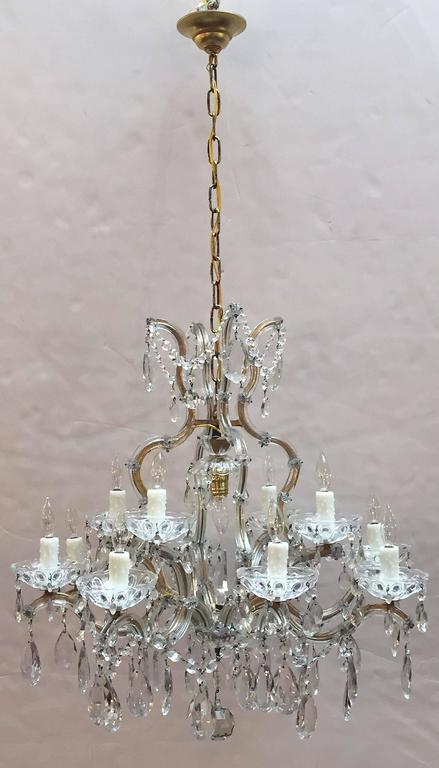 Faceted Large Maria Theresa Seventeen-Light Chandelier (29