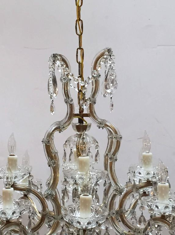 20th Century Large Maria Theresa Seventeen-Light Chandelier (29