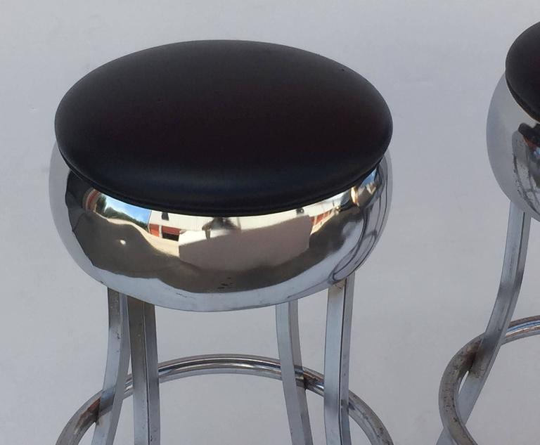 20th Century Six Chrome Bar Stools 'Priced Individually' For Sale