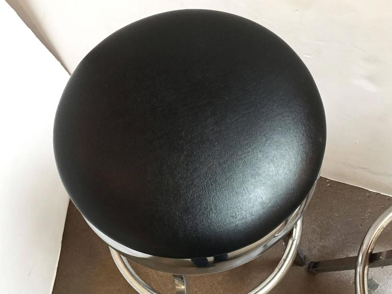 Six Chrome Bar Stools Priced Individually For Sale At