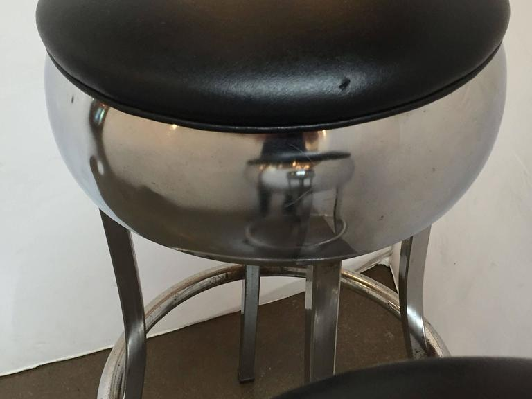 Six Chrome Bar Stools 'Priced Individually' For Sale 2