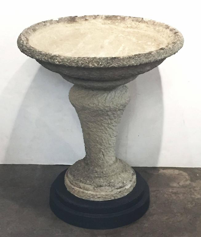 Large Decorative Stone : Large english decorative garden stone stand for sale at