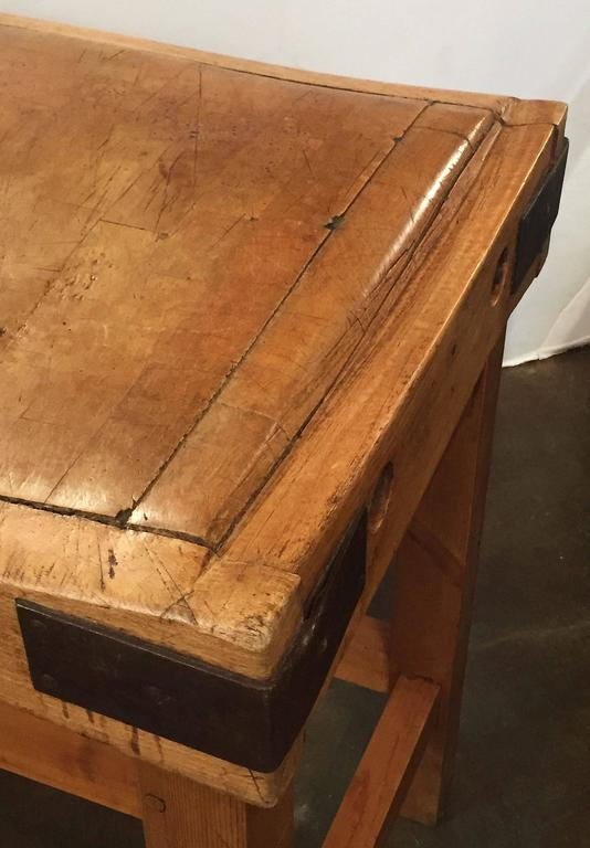 large french butcher s block on stand for sale at 1stdibs