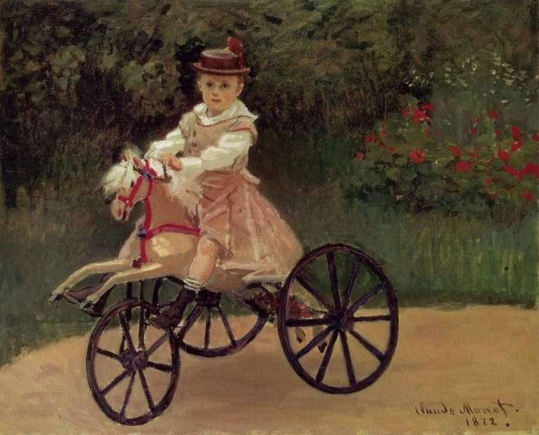 French Velocipede or Child's Horse Tricycle 10