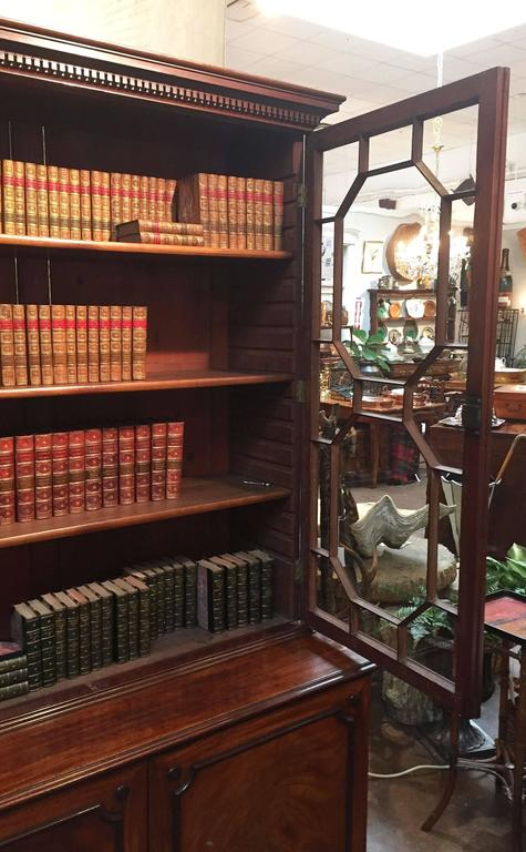 Large English Bookcase of Mahogany For Sale 2