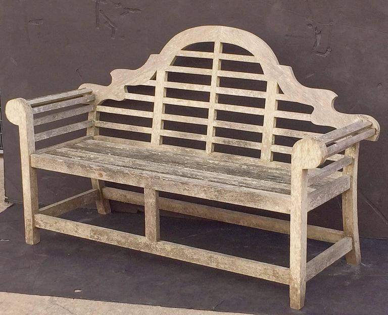 Lutyens Style Garden Bench Seat Of Teak At 1stdibs