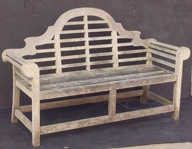 Super Lutyens Style Garden Bench Seat Of Teak At 1Stdibs Machost Co Dining Chair Design Ideas Machostcouk