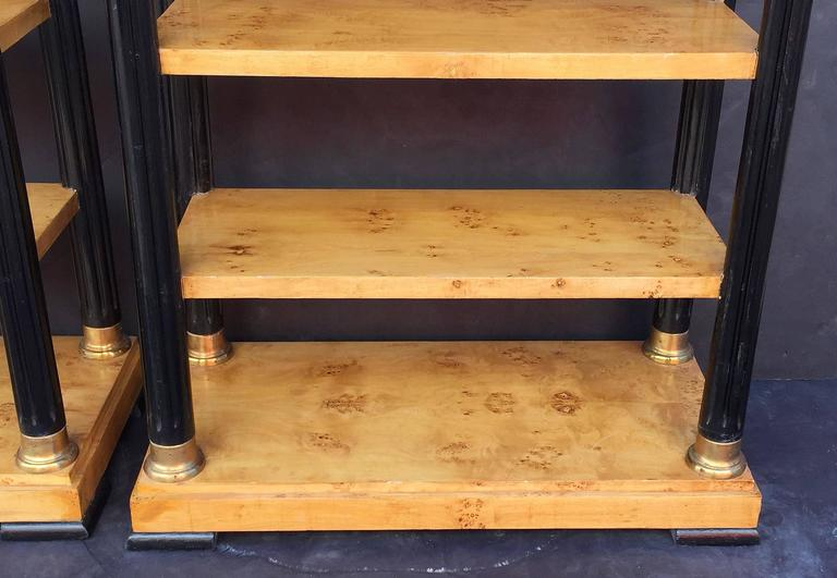 Pair of Biedermeier Style Open Bookcases or Shelves from England 10