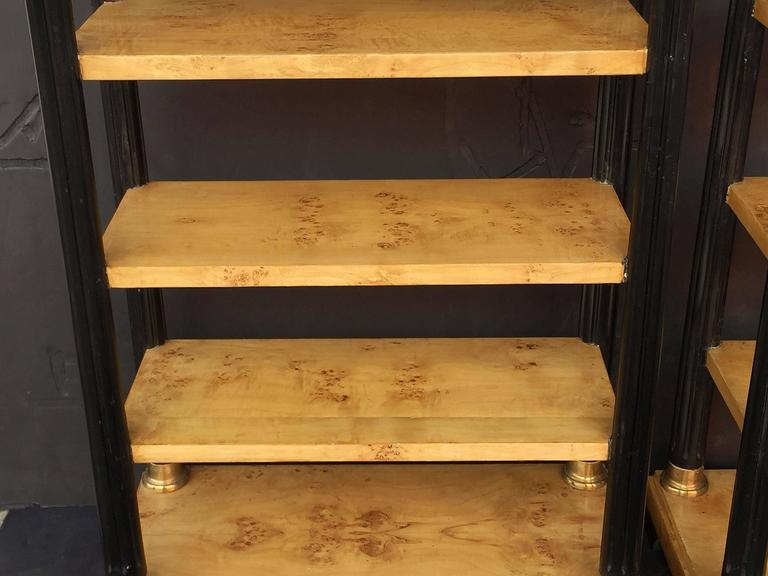 Pair of Biedermeier Style Open Bookcases or Shelves from England 8