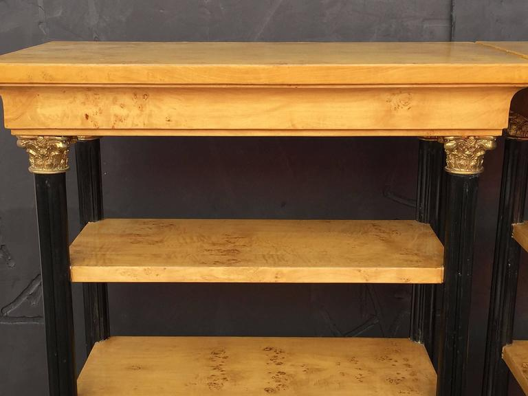 Pair of Biedermeier Style Open Bookcases or Shelves from England 7