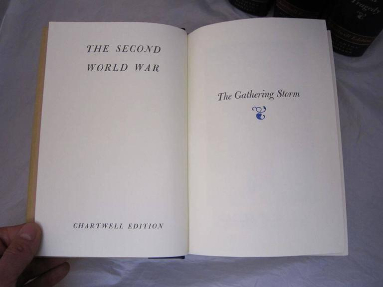"""""""The Second World War,"""" Chartwell Edition by Winston Churchill For Sale 1"""
