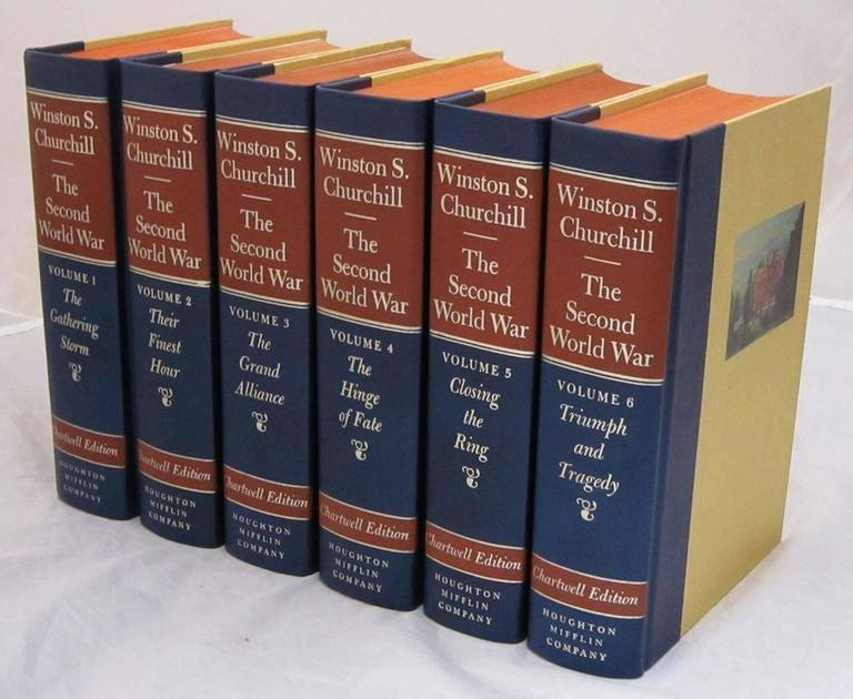"""American """"The Second World War,"""" Chartwell Edition by Winston Churchill For Sale"""