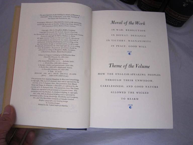 """""""The Second World War,"""" Chartwell Edition by Winston Churchill For Sale 3"""