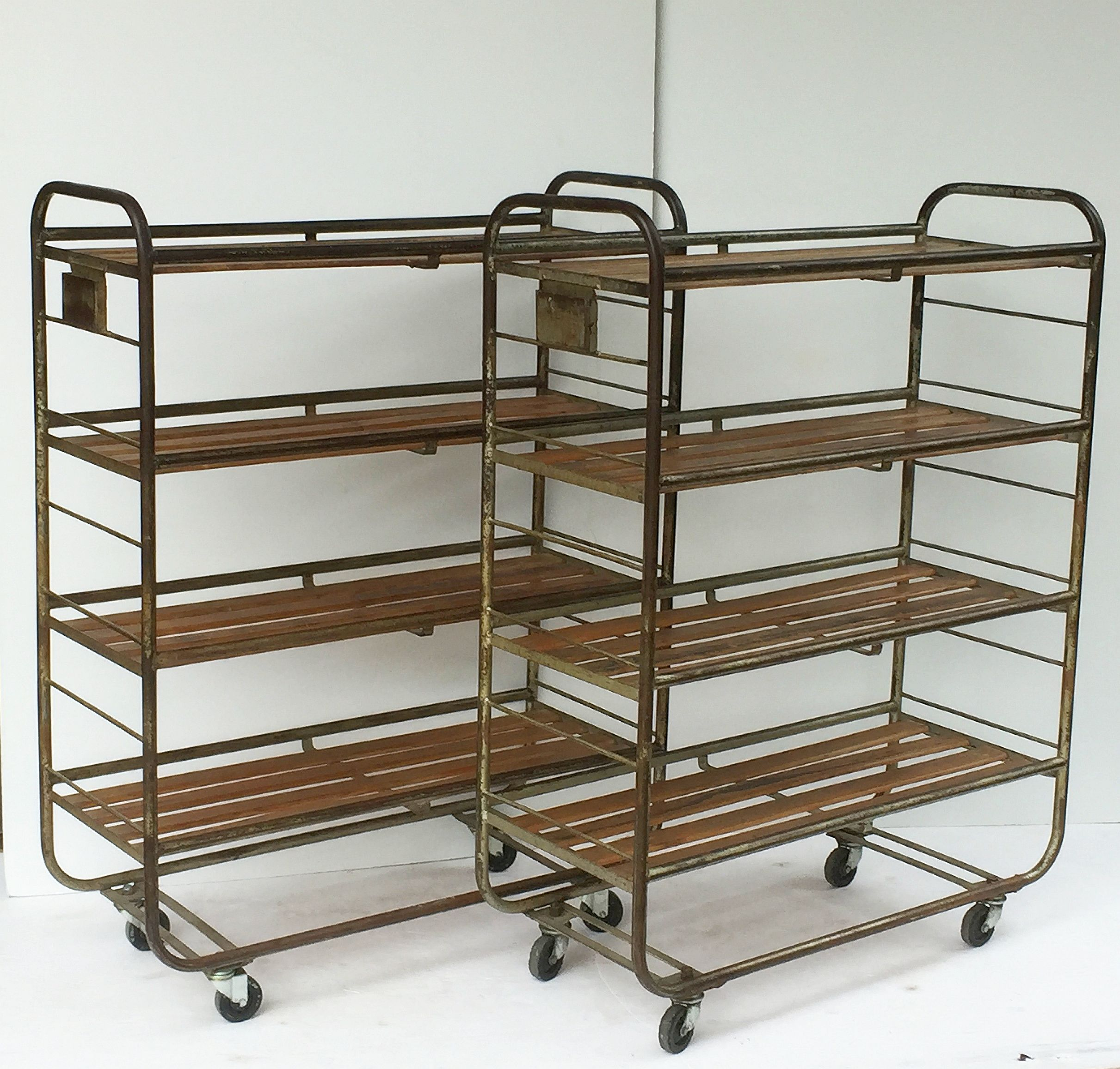steel french f pair one collectibles more rolling sale for racks and of at org furniture id rack wood industrial available