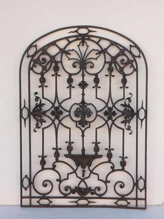 Large french arched gate of wrought iron from the th